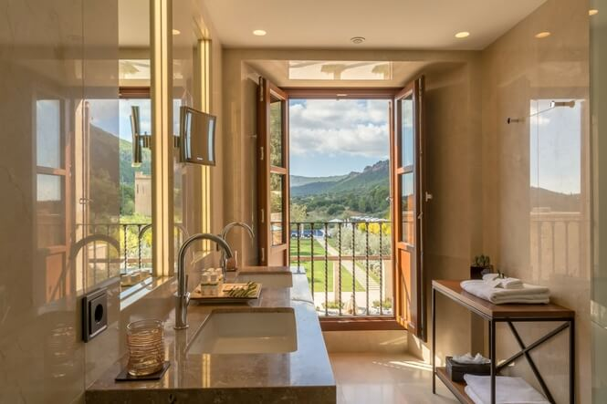 Deluxe Double Room, Castell Son Claret Luxury Hotel Mallorca (1)