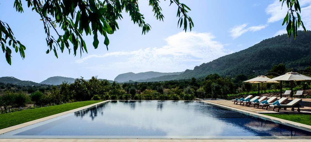 Infinty Swimming Pool at the Luxury Boutique Hotel in Mallorca , Castell Son Claret