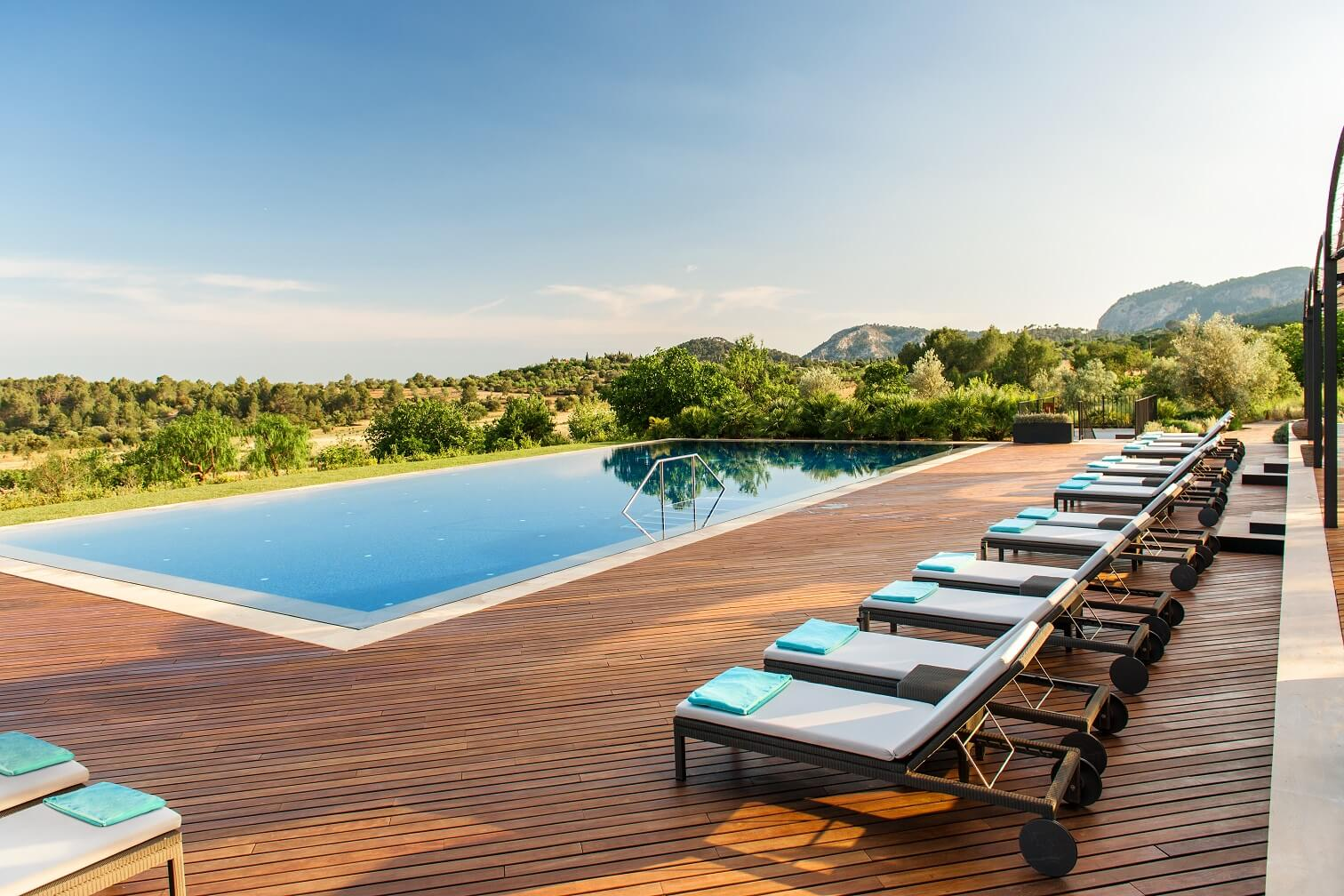 Outdoor Pool at the luxury hotel in Mallorca, Castell Son Claret