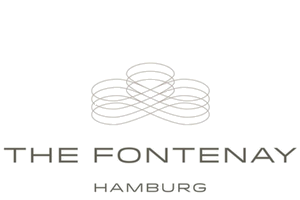 The logo of the partner hotel of Castell Son Claret: The Fontenay in Hamburg